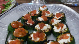 Cheese And Tomato Canapes