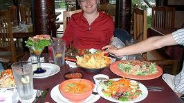 Mexican Shrimp Fajita Salad