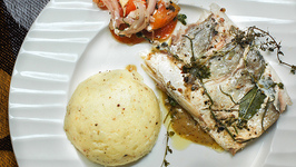 Salmon and Parsley Buttered Potatoes