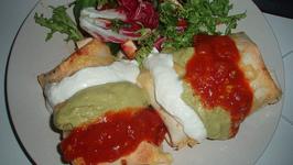 Green Enchiladas With Sour Cream