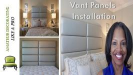 Vant Panels Installation In The Guest Bedroom