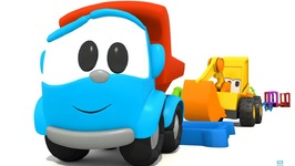 Car Cartoon  Excavator Max And Leo The Truck  Carousel sports Equipment  Educational Video