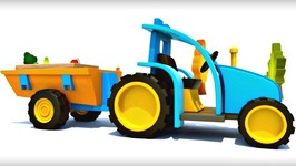 Car Cartoons And Educational Videos  Learn Fruits With Tractor Cartoon And Truck Cartoon