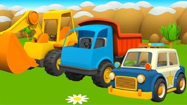 Vehicles For Kids  Car Cartoon  Learn Vehicles With Cars And Trucks