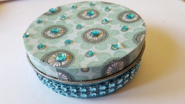 Mod Podge Upcycled Bling Tin  DIY Crafts