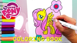 My Little Pony Coloring Book Episode - Fluttershy Coloring Page With Markers