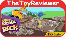 Kinetic Rock - Rock Crusher Playset Spin Master Sand Build Unboxing Toy Review
