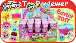 NEW 2017 Easter Shopkins Baskets Blind Bags Full Case Box Eggs Unboxing Toy Review