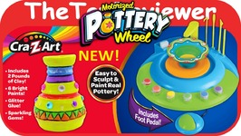 NEW Cra-Z-Art Motorized Pottery Wheel Foot Pedal Clay Paint Unboxing Toy Review