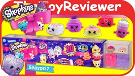 Shopkins Season 7 S7 Mega Pack 20 And 4 Gift Boxes Blind Bags Unboxing Toy Review