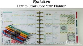 How to Color Code Your Planner (Plan with Me Happy Planner)