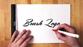 Brush Pen Script Logo Tutorial