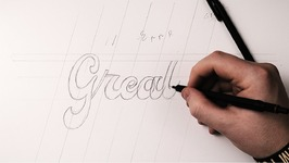 Hand Lettering Tutorial - How To Draw Brush Script
