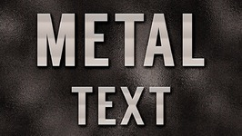 Metal Text Effect in Photoshop CS6 - Part 2