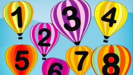 Counting Song Number 8 Balloons  - Learn Numbers Kids Songs