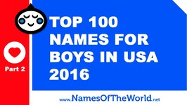 Top 100 Baby Boy Names In US 2016 Part 2 - The Best Baby Names