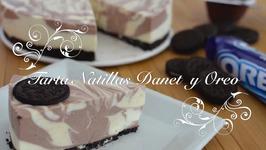 Tarta de Natillas Danet y Galletas Oreo