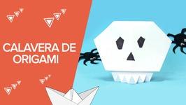Cómo hacer una calavera de Halloween paso a paso  Origami para niños