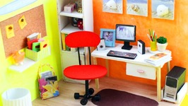 Diy Miniature Office Room And Dollhouse Furniture Video By