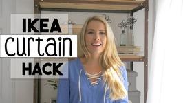 IKEA Curtain HACK  DIY Curtain  No Sew Hem