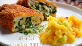 Chicken Kiev with Rutabaga Chilli Mash recipe