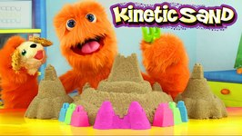 Kinetic Sand How to Make and DIY - Sand Castle with Colors Ice Cream ASMR and Chubby Puppies for Kids