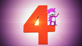 Number Four  Original Number and Counting Songs for Children  Hippy Hoppy Show