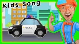 Police Cars for Children with Blippi - Songs for Kids