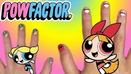 Powerpuff Girls DIY Nails