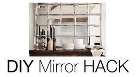 DIY Beveled Mirror  Pottery Barn Mirror HACK