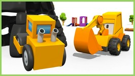 Kid's 3d Construction Cartoons   Surprise Egg Unboxing   Road Roller Hide And Seek With Excavator Max