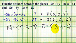 parallel planes equations. ex: find the distance between two par. parallel planes equations