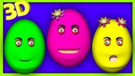 Talking Surprise Egg Finger Family Song  Kids Colors Surprise Egg Nursery Rhymes 3D