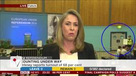 BBC Brexit Coverage Captures Door That Looks Like Hitler