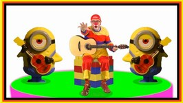 Car Clown Songs - Minions Banana Band Demo  Toys Videos For Kids