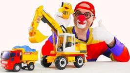 Toy Car Clown Crane - Blue Goo Truck