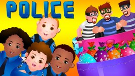 ChuChu TV Police Chase Thief in Railroad Police Car and Save Giant Surprise Eggs Toys, Gifts for Kids