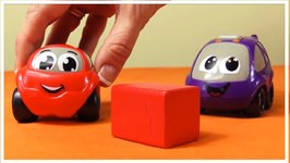 The Vroomies Toy Cars - Learning Colors With Crashing Cars  Children's Educational Cartoons