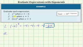 Evaluate Basic Exponential Expressions