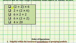 Evaluate Expressions (Common Core 3/4 Math Ex 3)