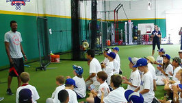 Dodgers Dee Gordon Visits Baseball Camp, Story Behind The Bubble Machine?