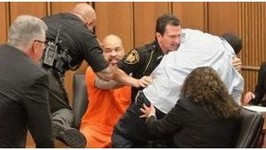 RapistMurderer Gets Attacked By Victim's Dad in Court