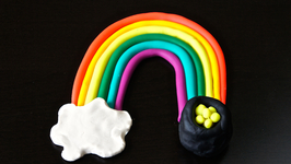 Play Dough Rainbow With Pot-O-Gold