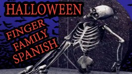 Halloween Skeleton Finger Family  Spanish Kids Nursery Song In English  dedo familia en español