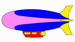 Rainbow Colors Book  Kids Learn Colours And Vehicles  Airships