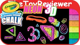 Crayola Neon 3D Washable Sidewalk Chalk With 3D Glasses Unboxing Toy Review by TheToyReviewer