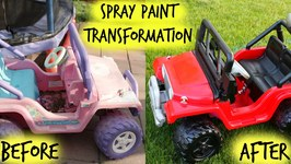 Spray Paint Transformation - Before and After