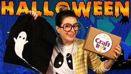 DIY Trick or Treat Bag  Pipe Cleaner Spiders - Craft Box Craft - Arts and Crafts with Crafty Carol