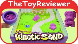 Kinetic Sand Doggy Daycare Playset Sands Alive Cra-z-Sand Mold Toy Unboxing Review