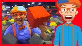 The Trampoline Park with Blippi - Learn Colors and more!
